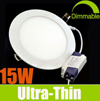 Wholesale Dimmable Ultra Bright W LED Panel Lights SMD2835 Recessed Lamps AC V Warm Cool Nature White With Power Supply Ceiling Down Lights
