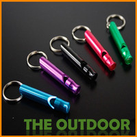 Wholesale Hot Selling Survival Whistle Mini Aluminum Emergency With Keychain Rescue Whistles survival