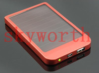 Wholesale 2600mAh Solar Charger Portable USB Solar Power Charger For Mobile Phone iphone S iphone S C MP3 MP4 PDA