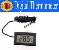 anti interference - 1 quot LCD Screen Moisture Resistant Strong Anti Interference Digital Thermometer Embedded Temperature for Freezer Temperature degree