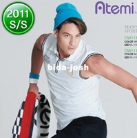 Wholesale Atemi male T shirt badminton sportswear sleeveless t shirt mwh