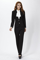 Women Dress Suit Corduroy 2013 New Women Pants Suits for Ladies OL Business Career Cotton Long Sleeve Spring Winter Black Free shipping