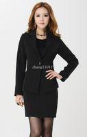 Women Dress Suit Corduroy Fashion women's blazer new 2013 formal female business suits autumn coat winter jackets and dress sets elegant black