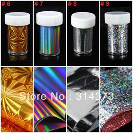 Wholesale 10PCS U Pick Bling Laser Universe Star Transfer Stickers Foil Pasters Decals Nail Art Tips DIY Design Ornament Decoration