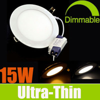 Wholesale Christmas Sale Dimmable W LED Panel Lights SMD2835 Recessed Lamps AC V Nature Warm Cool White With Power Driver Downlights