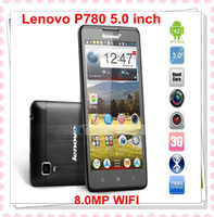 Wholesale Singapore Lenovo P780 Quad core MTK6589 GHz GB RAM inch Capacitive Android Wifi GPS Smart mobile cell phone