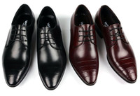 Wholesale Men s Dress shoes England Style Lace Up Adult Mens Cusp Oxford Shoes Mens Dressy Shoes