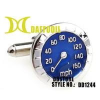 Wholesale Fashion kalvosinnappi DDstore Pop cufflinks jewelry for men Blue meta speedometer DD1244