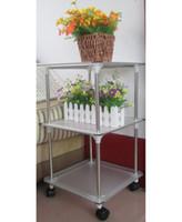 magazine rack - Square shelf magazine rack shelf flower bed high quality stainless steel skeleton