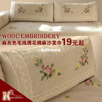 Wholesale Kelke fluid armrest hand embroidery towel embroidery yarn rustic dining table cloth fabric sectional sofa