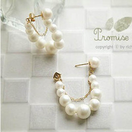 Fashion Pearl Earrings diamond stud earring charm jewelry wedding ornament earring free shipping