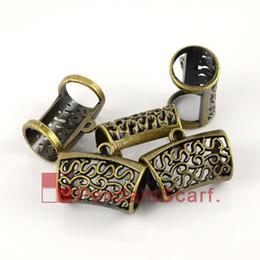 50PCS LOT New Arrival Fashion DIY Jewellery Scarf Pendant Antique Bronze Plated Plastic CCB Charm Slide Bails Tube, Free Shipping, AC0074B