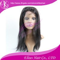 Wholesale Brazilian Indian Lace Front Wigs Human Virgin Remy Hair Extension Straight Wig DHL Fast Shipping