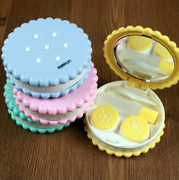 Wholesale 2013 New Contact Lenses Case Simulating Cookie Cake Contact lens Case Promotional Gift Box