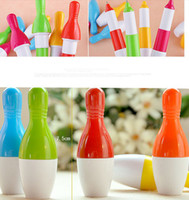 Wholesale 2013 new Fashion Cute bowling ball Shape Retractable Ball Point Pen ballpoint Pen Stationery Children best like Gifts