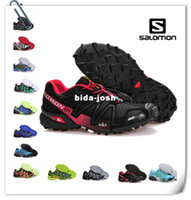 Wholesale Free new Original quality Zapatillas Salomon SPEED CROSS3 CS outdoor sports Running shoes men s Athletic shoes
