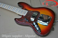 Wholesale Left handed Bass strings lefty JAZZ Bass Vintage Sunburst electric bass China guitar