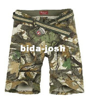 Wholesale Bionic camouflage shorts bags pants Cargo Shorts for fishing hiking bionic camouflage
