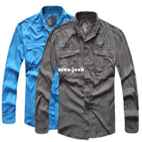 Wholesale Outdoor quick drying shirts male long sleeve spring quick dry clothing set short sleeve plus size available