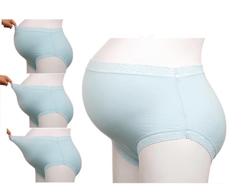 2017 Maternity Panties Seamless 100% Cotton High Waist Plus Size ...