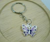 Cheap Coin Holder Belt Chains key Ring Best Alloy Coin Holder Keychains Drip Oil Alloy Butterfly