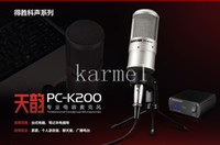 Wholesale Victory PC K200 condenser microphone recording microphone network K song cover MC shout Mai computer sound card suit