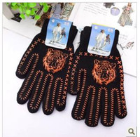 Wholesale Han edition winter fashion new tiger with thick wool refers to men s gloves