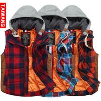 Cheap Men Men Plaid Vest Best Waist_Length Cotton Mens fashion vest