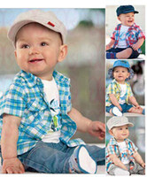 Boy Summer 100% Cotton Free Shipping! 2013 new arrive baby clothing set boy clothes set t-shirt+shirt+pants summer kid suit Wholesale And Retail