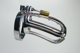 Wholesale 2013 Male Double Chastity Device Cock Cage A929 New Style Anti Shedding With Barbed Ring Urethral sound Extreme SM Chastity Belt