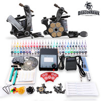 Wholesale USA Dispatch Beginner Cheap Tattoo starter Kits Guns Machines Ink Sets Equipment Needle Power Supply grips tips D100 Free Razors