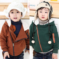 Wholesale 2013 Children Clothing Kids Baby Clothes2013 Korean version of the new fall and winter clothes men clothing baby child diagonal zipper hoodi