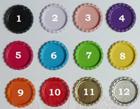 Wholesale DIY jewelry Both Side Colored Metal Beer Bottle Caps