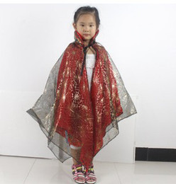 Wholesale Halloween Child Halloween Costumes Hardcover Golden Pumpkin Shawl Short Cloak Double Triangle Cloak SD00049
