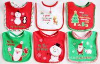 Wholesale Christmas bib Embroidered Towel cloth waterproof bib cotton towel Baby and children saliva towel baby bibs