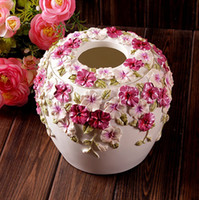 Wholesale Fashion quality home handle paper box pumping paper box table napkin tissue box paper pumping box decoration a29