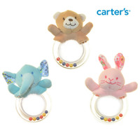 Wholesale 6pcs Cute Cartoon ainimal Baby teether newborn baby rattle toy safety biting rubber B715