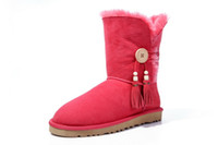Wholesale Winter New Style Comfortable Ladies Designer Mid Sheepskin Snow Boots Warm Winter Womens Flat Buttom Boots