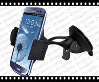 Wholesale Universal car phone holder Cellphone amp GPS Mount Suction mount holder for Samsung Galaxy S1 Iphone s s c GPS