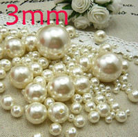 Wholesale 2000pcs ABS Ivory Color Pearl Imitation Round Beads for the most popular Jewelry mm wholesaleB17