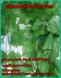 Wholesale simulation large vines of grape vine leaves artificial silk leaves great for wedding home garden Decor
