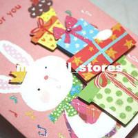 Valentine's Day HQ0303665  2pcs Kids Toys Kids Love Cartoon rabbit three-dimensional pattern gift box birthday greeting card Free Shipping