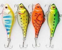 Wholesale 65mm Fishing lures Deluxe Swimbait Crankbait Hard Bait G hooks Bass Walleye Crappie