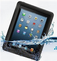 Wholesale 100 Waterproof Stand Case Cover for iPad New iPad Dirt Snow Shock Crush Proof Cases with Retail Package AAAAA Quality