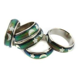 Wholesale Magical color Changing Mood Emotion Test Finger Ring Trinket mm Diameter Unisex Design SET