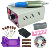 Wholesale Lowest Price US Ship Professional electric acrylic nail drill file machine kit with bits Manicure set