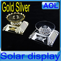 Wholesale Solar Powered Display for Jewelry Mobile etc Promotion Solar Stand Gold Silver