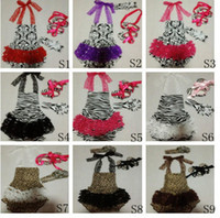 Wholesale 4 set Summer baby girl s newborn leopard print lace top ruffle bloomers headband toddler shoes Christmas gift
