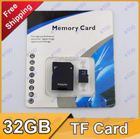 TF / Micro SD Card 32GB 100pcs Class 10 32GB MICRO SD TF Memory Card with Adapter Blister Packaging For 5D 60D 70D 700,R086,D052B