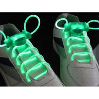 Wholesale 10 pairs LED Flashing Glowing Shoelaces LED Gadget Latest model Laser Shoelaces X